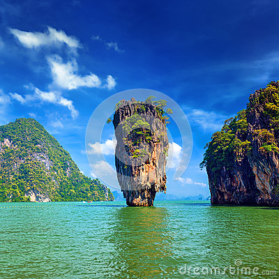 James Bond island view tropical landscape