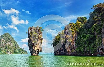 James Bond island view tropical landscape