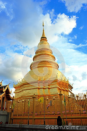 Beautiful Pagoda in the northern thailand temple