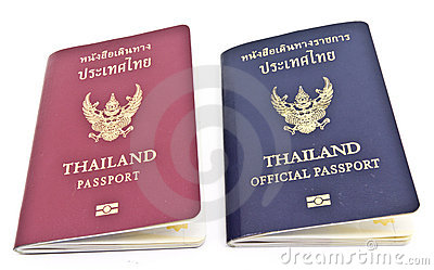 Thailand Passport and Thailand official passport