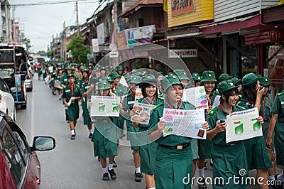 Thailand political rally Editorial Image