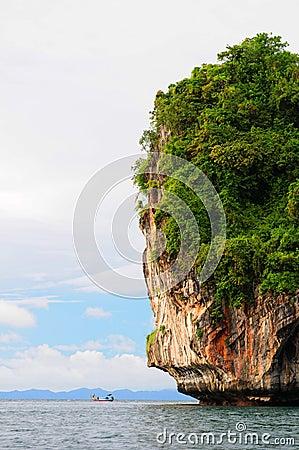 Thailand rock formation in sea