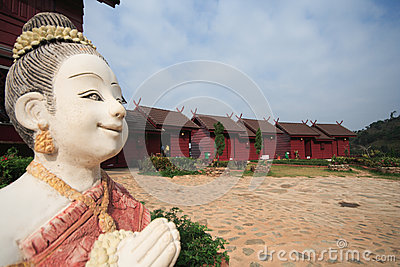 Thailand Smile Welcome Statue to Resort