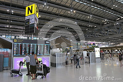 Thailand : Suvarnabhumi Airport Editorial Photography
