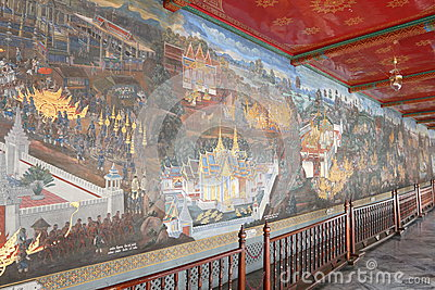 Thailand : Temple of Emerald Buddha Editorial Stock Photo