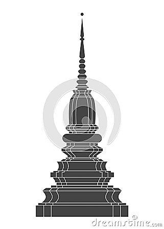 Free Thailand Temple Vector Stock Photo - 54334080