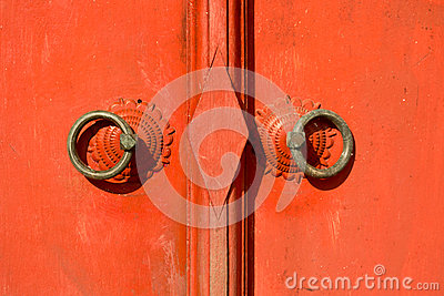 Thailand  traditional red door