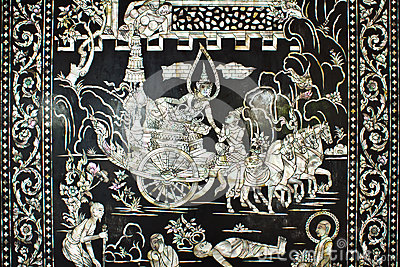 Thailand traditional style buddhist temples