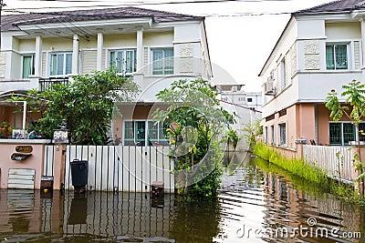 Thailand water flood Editorial Photo