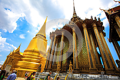 Thailands Grand Palace Editorial Stock Image