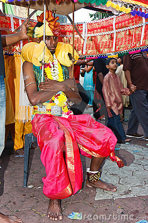 Thaipusam Festival 2012: Total Devotion Pilgrim Editorial Stock Image