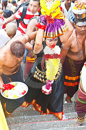 Thaipusam Festival 2012: Total Devotion Pilgrim Editorial Photo