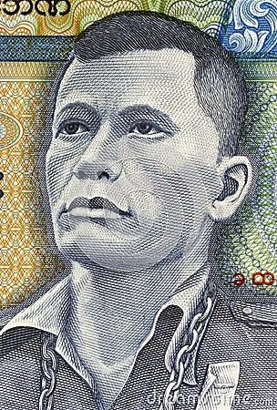 Thakin Po Hla Gyi Editorial Stock Photo