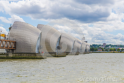 Thames Barrier Editorial Stock Photo