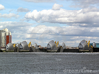 Thames Barrier with it s flood gates closed