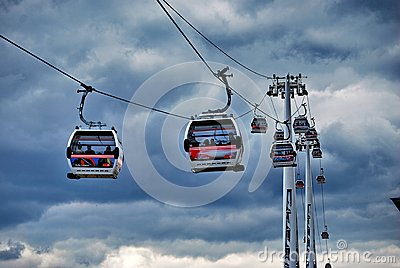 Thames Cable Car Emirates Air Line Editorial Stock Image