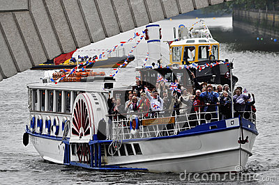 The Thames Diamond Jubilee Pageant Editorial Stock Photo