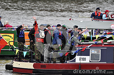 The Thames Diamond Jubilee Pageant Editorial Image