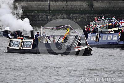 The Thames Diamond Jubilee Pageant Editorial Photography