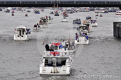 The Thames Diamond Jubilee Pageant Editorial Stock Image