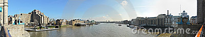 Thames panoramic view from Tower Bridge, London Editorial Photography