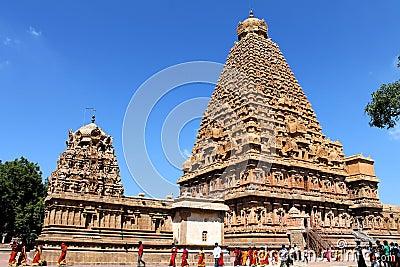 Thanjavur Brihadeeswarar Temple Editorial Photography