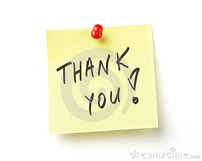 Thank  note on with clipping path