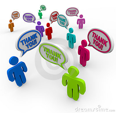 Thank You - Appreciative People Thank Each Other