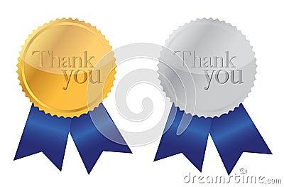 Thank you Award medals