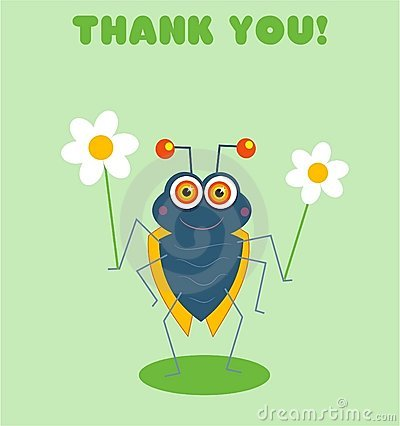 Free Thank You Bug Stock Images - 89204