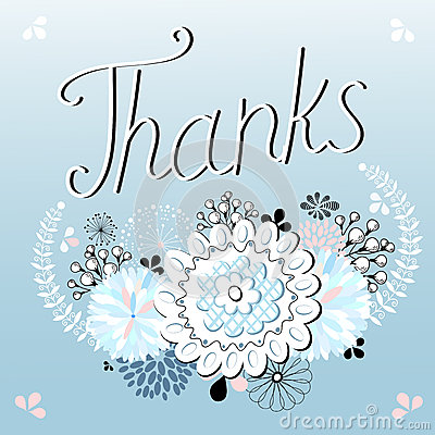 Thank you card , with font
