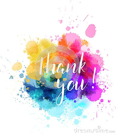 Thank you colorful splash Vector Illustration