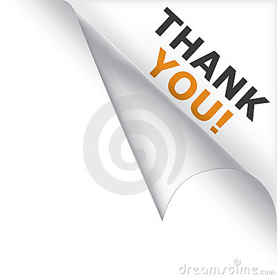 Free Thank You Curled Corner Royalty Free Stock Photography - 11184887