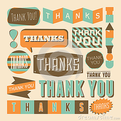 Free Thank You Design Elements Stock Images - 33572884