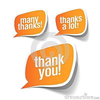 Thank you - grateful bubbles