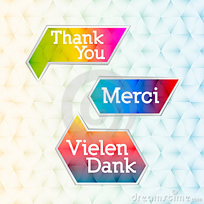 Thank you - grateful bubbles (vector)