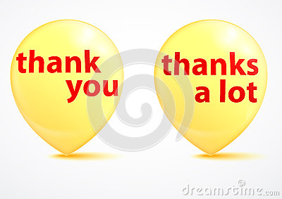 Thank you - grateful yellow bubbles