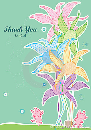 Thank You So Much Help Cat Touch Flower_eps