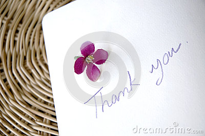 Thank you note on basket