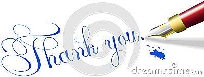 Thank you note fountain pen write