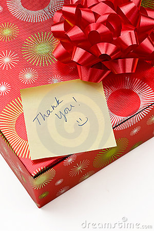 Thank you note and gift