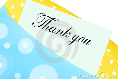 Thank you note or letter