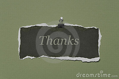 Thank You Note on a piece of Rip Paper