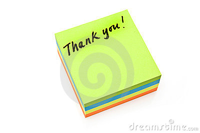 Thank you post-it-note