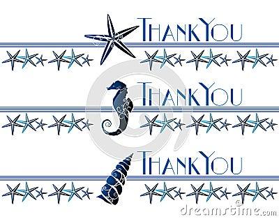 Thank You Sea Theme Card