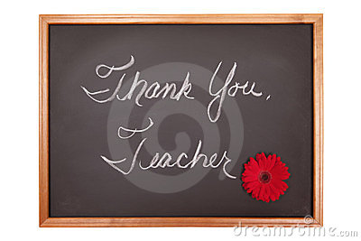 Thank you teacher sign