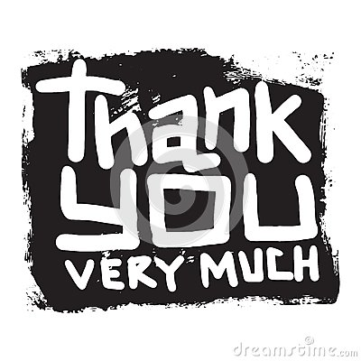 Thank you text lettering vector illustration Vector Illustration