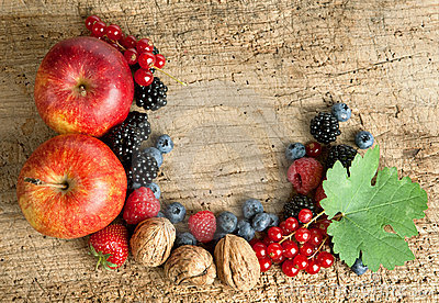 Thankgiving board with fruit