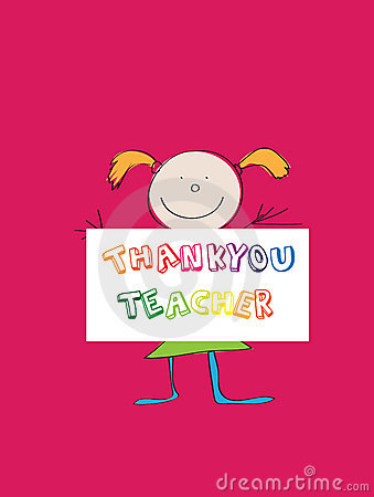 Thanking teacher