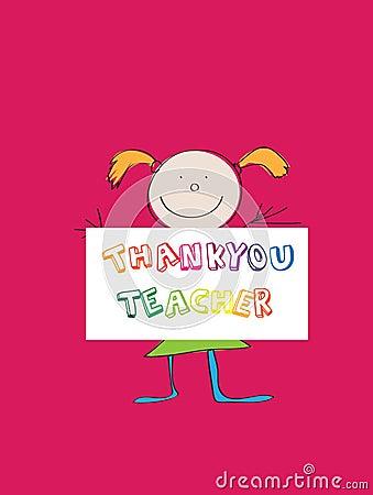 Thanking teacher
